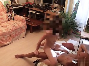 Hot busty young girl is carrying-on with her pussy