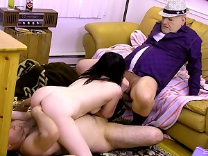 Teen slut suits boyfriend and his abb� with the relevant trine